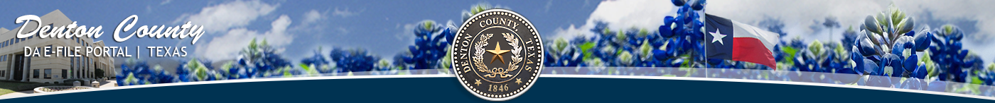 Denton County DA E-File Texas Logo